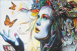 urban princess graffiti wall street art modern painting