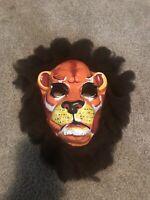 Vintage Collegeville Lion Halloween Mask Jungle Cat Safari 60s 70s