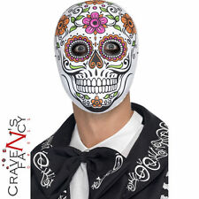 Adult Senor Bones Face Mask Day of the Dead Skeleton Halloween Accessory