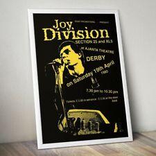 Joy Division Print, Joy Division Gig Poster, Wall Art, Rock Band Poster