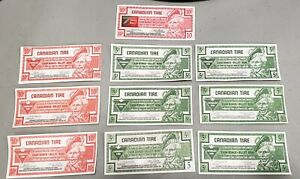 Canadian Tire Money lot - 10 different bills w/ various signatures.1996 & newer