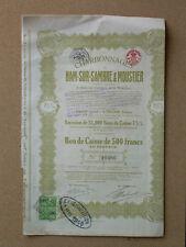Ancien des valeurs mobilières 500 Francs France 1922 (1077