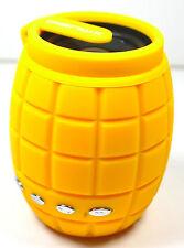 NEW! Yellow Grenade Speaker Phone MP3 MP4 Computer Portable Micro USB Gift Idea