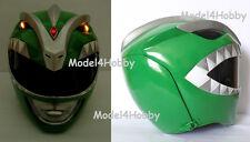 Light up Mighty Morphin GREEN Power Ranger Silver Forehead 1/1 Life-size Helmet