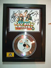 BAY CITY ROLLERS SIGNED   SILVER  DISC  NEW FRAME   7753i