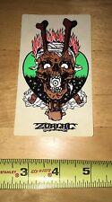 Zorlac Pushead Craig Johnson Gibson Metallica Skateboard Sticker Vintage 90s Nos