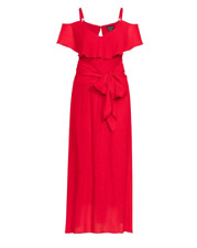 City Chic Ladies Romantic Tie Dress sizes 14 16 18 20  22 Colour Red Love
