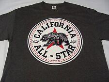 CALIFORNIA ALL-STAR - CALI LIFE - GRAY - XL SIZE T SHIRT!