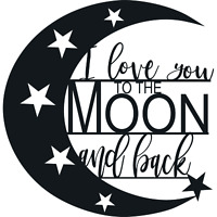 I Love You To The Moon And Back - Metal Wall Art