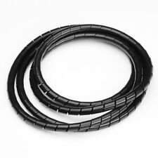 "VAISIS Cable Organizer Spiral Harness Wrap, 0.472"" Outside Diameter, 33', Black"