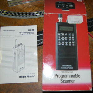 Radio Shack PRO-46 100 Channels Programmable Police/Fire Scanner AC Adapter Box