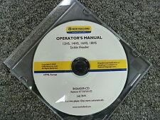 New Holland Models 12HS 14HS 16HS 18HS Sickle Header Owner Operator Manual CD