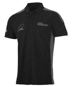 Mercedes-AMG Formula One F1 Team Men's Lewis Hamilton Signed Driver Polo - XL