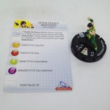 Heroclix Superman set Seven Deadly Brothers #005 Common figure w/card!