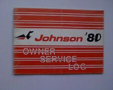 1981 Johnson outboard motor owners srvice record / maintenance log book