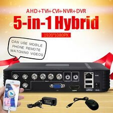 Security CCTV 8CH AHD DVR NVR HD IP CVI TVI Analog 5-IN-1 Hybrid Video Recorder