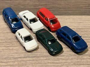 6 N Scale KATO Cars: Several Sedans, Previa Mini Vans, Wagon, Hach Back