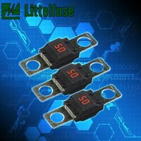 3pcs 50A AMP MIDI FUSES FOR DUAL BATTERY AND MEGA SOUND SYSTEMS AU STOCK