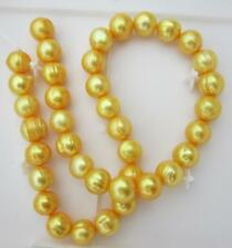"""natural 18"""" AAA 11-12MM SOUTH SEA golden PEARL NECKLACE 14K GOLD CLASP"""
