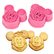 2pcs Mickey & Minnie Cookie Cutters Cake Baking Sugarcraft Crafts Mold Bakeware