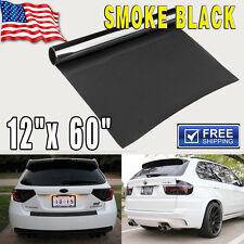 "Gloss Medium Black Smoke HeadLight Tailight Fog light Tint Film Vinyl - 12""x60"""