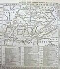1862 Civil War newspaper w MAP of KENTUCKY & TENNESSEE Battle of Mill Springs KY
