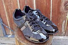 Womens Coach Shoes Sneakers Kinsley Black Patent Leather Canvas Size 10M Fashion