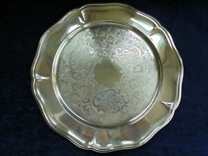 VINTAGE STRACHAN SILVER PLATE BUTLERS SERVING TRAY