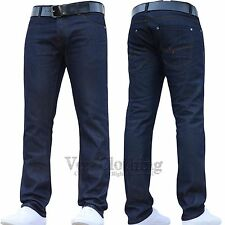 CROSSHATCH NEW MENS FASHION SLIM FIT DENIM JEANS PANTS BLUE WORK TROUSERS SIZES
