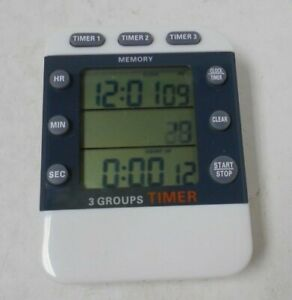 Ceebon Digital Timer 3 Group Timer Magnet Bracket  Working NEW E12