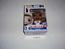NFL ODELL BECKHAM, JR. Nueva York Giants WAVE 4 POP Vinyl Figura de Funko