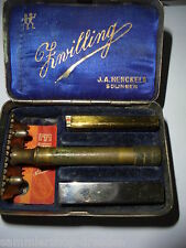 25591 Rasierer good Razor Brass Zwilling Solingen tin box Schachtel Box