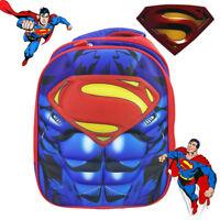 SUPERMAN HERO SCHOOL BACKPACK KID BOY CHILDREN PICNIC DAYCARE SHOULDER LARGE BAG