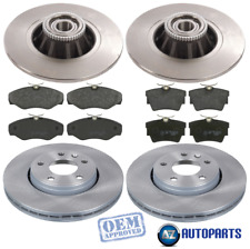 For Vauxhall - Vivaro 2001-2014 Front and Rear Brake Discs & Pads w/ ABS Rings