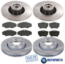 Vauxhall - Vivaro 2001-14 Front & Rear Brake Discs & Pads w/ ABS Ring & Bearings