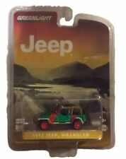 Greenlight 1:64 Hobby Exclusive 1993 Jeep Wrangler Yj Red and Grey Green Machine