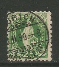 Switzerland 1888 Standing Helvetia 25c yellow green (90) used