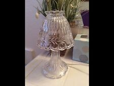 Princess House Crystal Lamp Heritage Romance Lead Crystal Electric