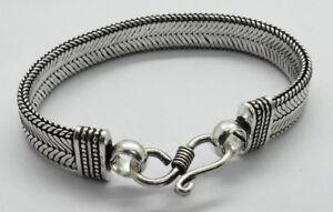 1 Piece Silver Bracelets Bali Snake Chain Belt Bracelet  18 cm Long Bracelet