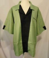 Hilton Bowling Shirt Mens Size 3XL Retro Style Button Up Olive Green NWOT