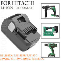 For HITACHI BSL1830C 18Volt Lithium Ion Battery 3.0Ah BSL1830 BSL1815X Slide CC