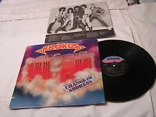 Krokus LP with Original Record Sleeve-CHANGE OF ADDRESS