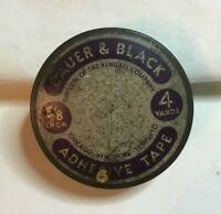 *Vintage Medicine Tin BAUER & BLACK ADHESIVE TAPE bandage KENDALL Co ***EMPTY