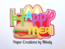 CRAFTECAFE MINDY MCDONALDS HAPPY MEAL premade paper piecing TITLE  scrapbook