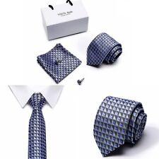 Men Silk Tie With Cufflinks Handkerchief 100 Percent Jacquar Silk Set Man Gift