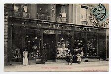 VITRY LE FRANCOIS Marne CPA 51 superbe devanture du magasin AU GRAND BAZAR