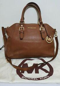 Michael Kors soft tan leather medium shoulder crossbody bag