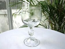 Set of 3 Import Assoc Bohemian Crystal Cascade Pattern Wine Goblets
