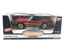 New ERTL American Muscle 1:18 Die Cast 1969 Shelby GT-500 Red Collectors Edition
