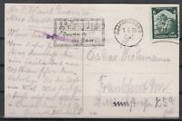 H3426/ SAAR – GERMANY REICH MI # 566 ON ILLUSTRATED POSTCARD